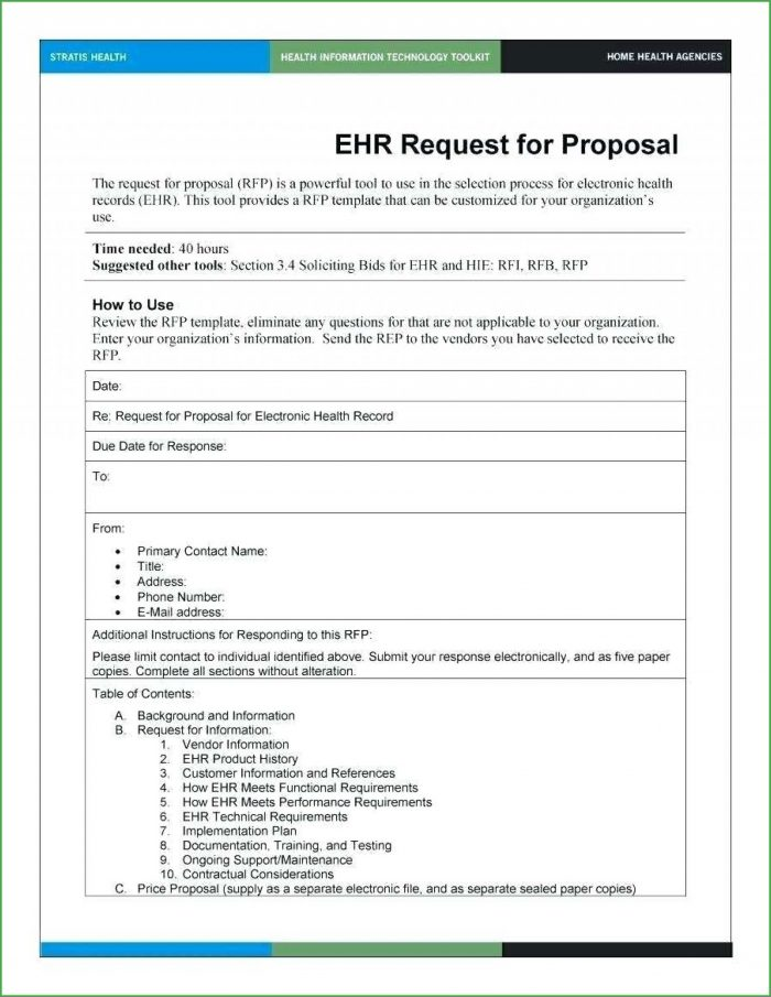 Request For Proposal Rfp Template Word