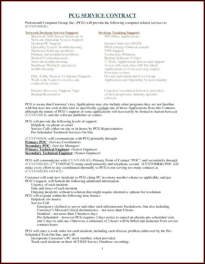 Residential House Cleaning Contract Template