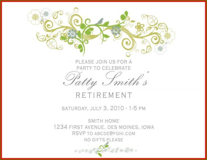 Retirement Celebration Invitation Template