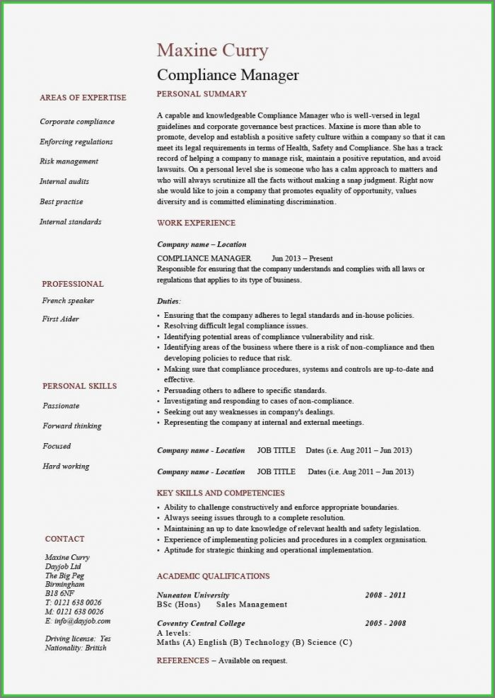 Sales Executive Resume Template