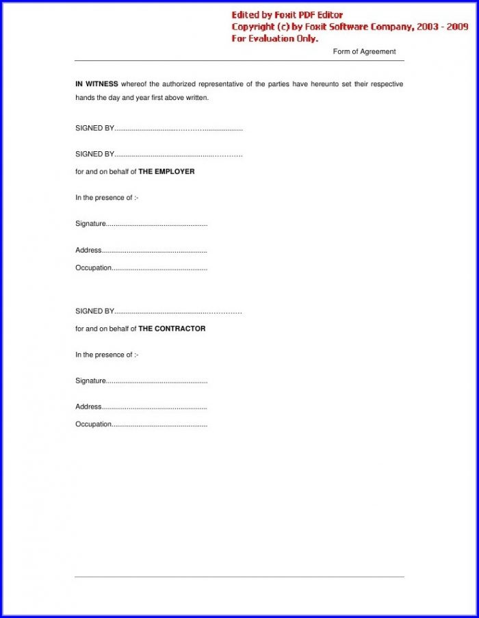Simple Barter Agreement Template