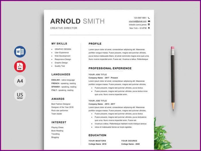 Simple Resume Template Download Word