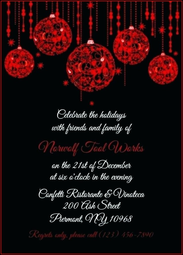 Snowflake Free Holiday Party Invitation Templates Word