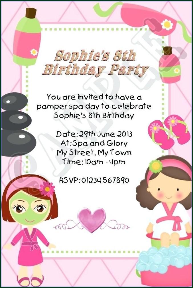 Spa Day Invitation Template Free