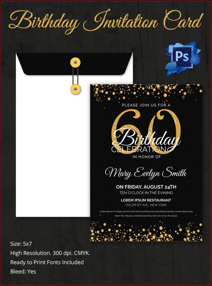 Surprise 60th Birthday Invitation Templates Free Download