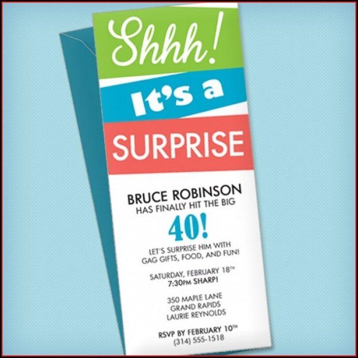 Surprise Birthday Invitation Templates Free Download