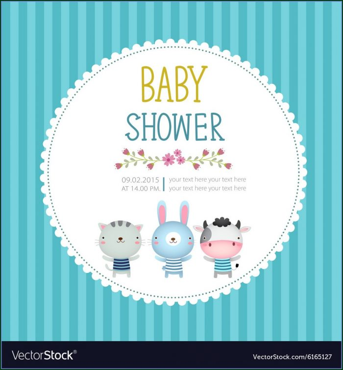 Template Baby Shower Invitation Cards