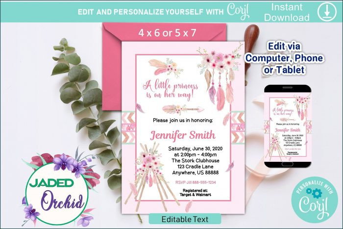 Template Baby Shower Invitation Indian