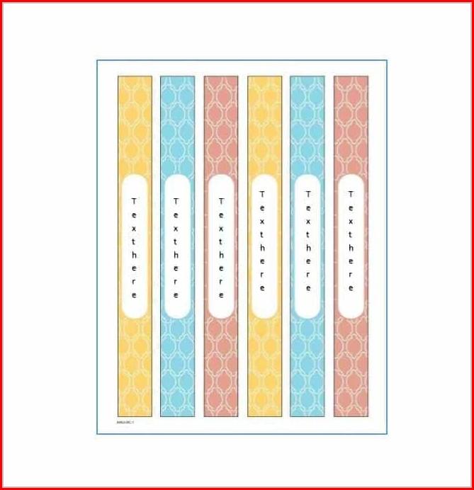 Template For Folder Spine Labels