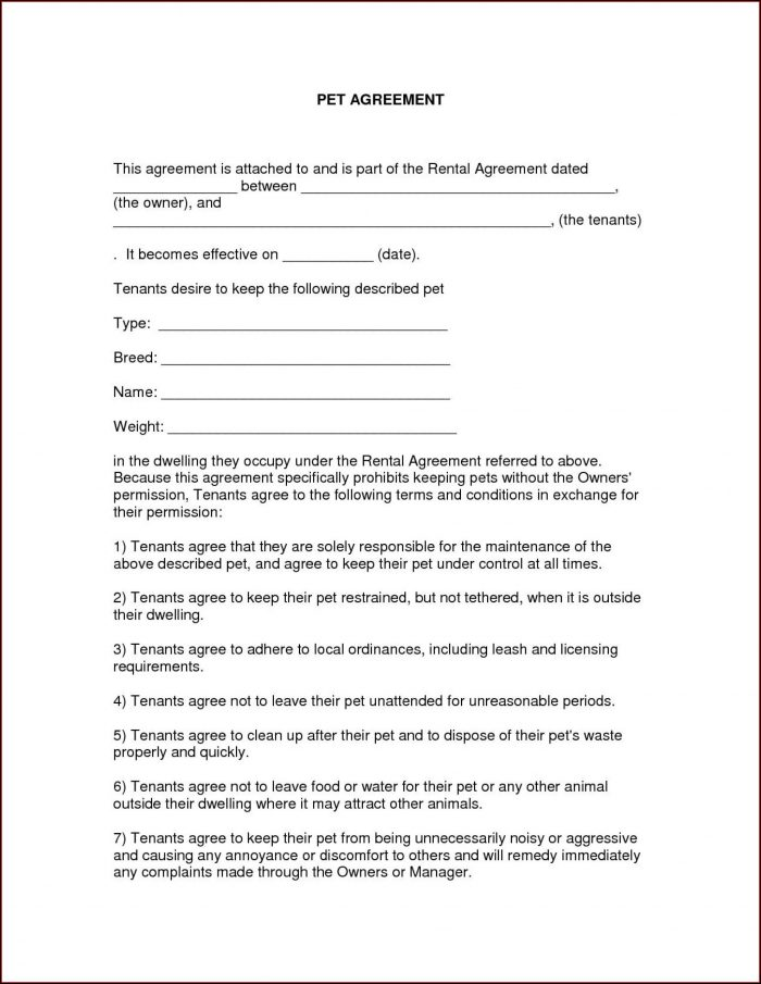 Template Free Printable Free Rental Agreement Pdf