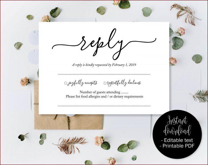 Template Printable Rsvp Cards