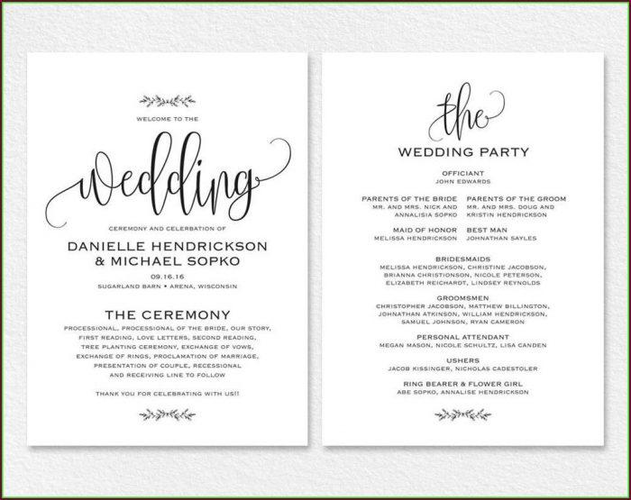 Templates For Wedding Invites