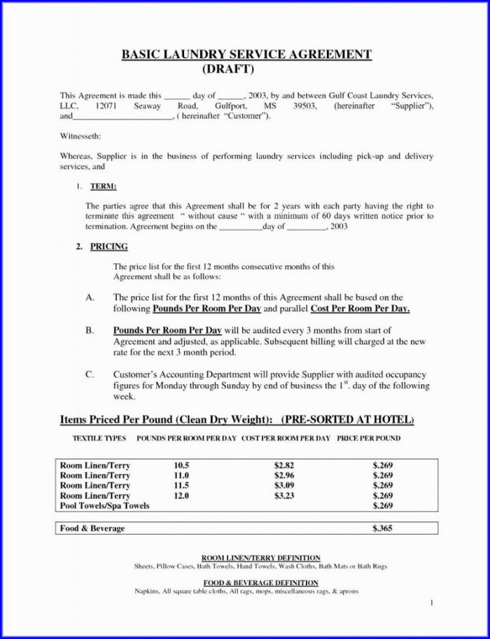 Tenancy Agreement Contract Template