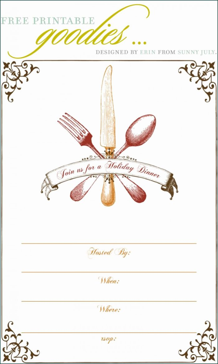 Thanksgiving Party Invitation Templates