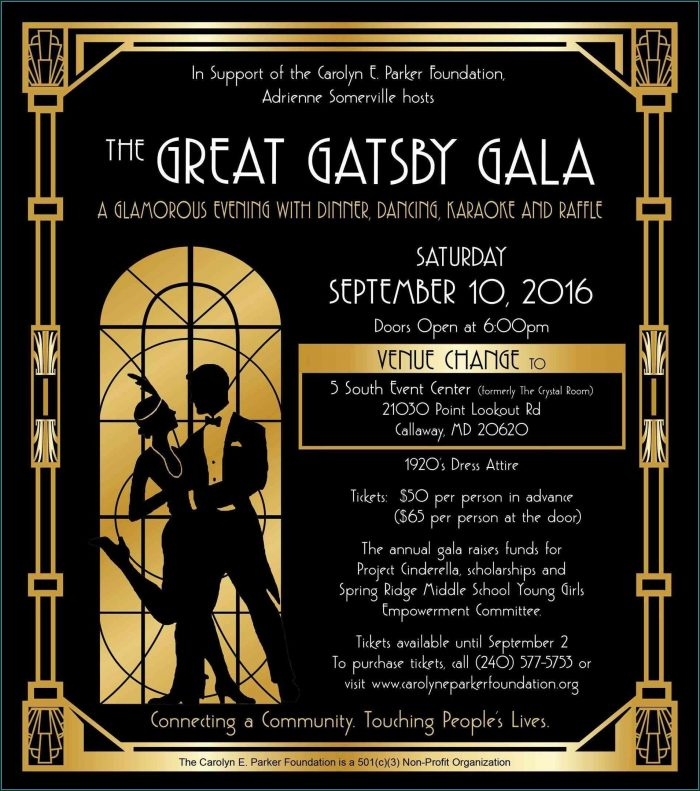The Great Gatsby Invitation Template Free