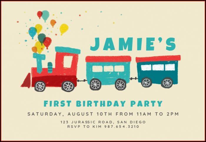 Train Birthday Invitation Template Free