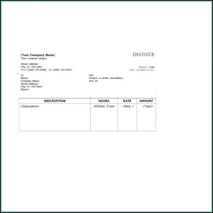 Tutoring Invoice Template Word