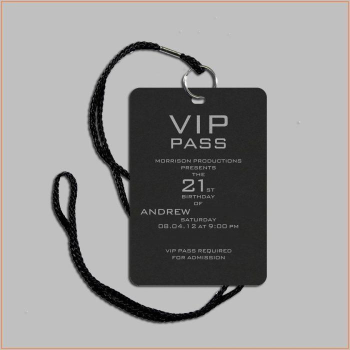 Vip Pass Invitation Template Free