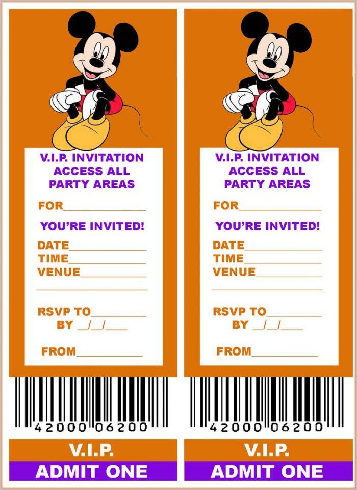 Vip Pass Ticket Invitation Template