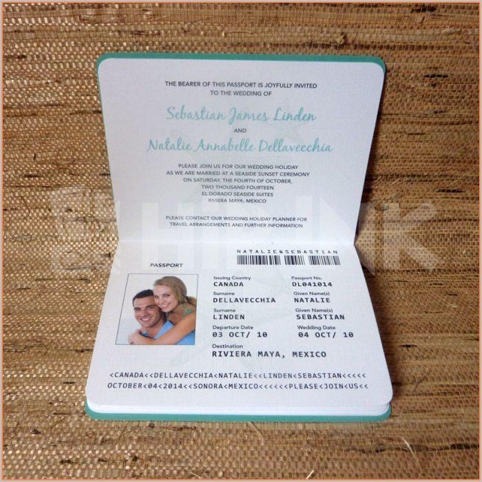 Wedding Passport Invitation Template Free