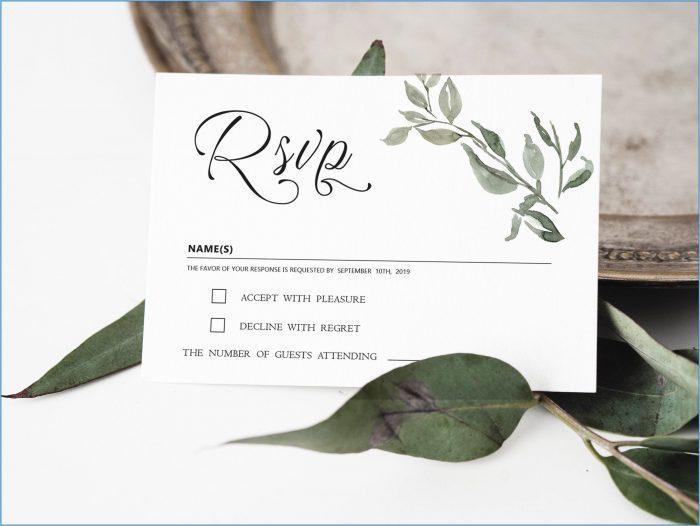 Wedding Rsvp Card Templates