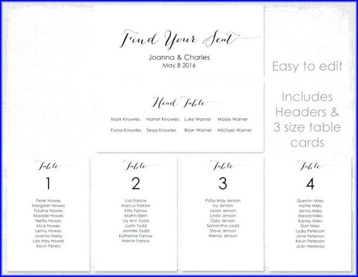 Wedding Table Setting Free Wedding Seating Chart Template Microsoft Word