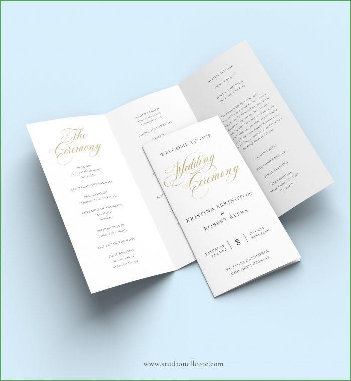 Wedding Tri Fold Program Template