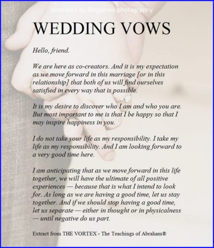 Wedding Vow Mad Libs Template
