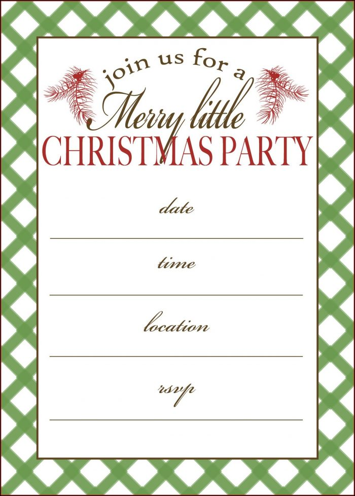 Word Document Downloadable Free Holiday Party Invitation Templates Word