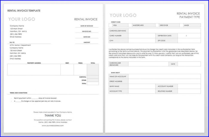 Word Document Invoices Templates Free