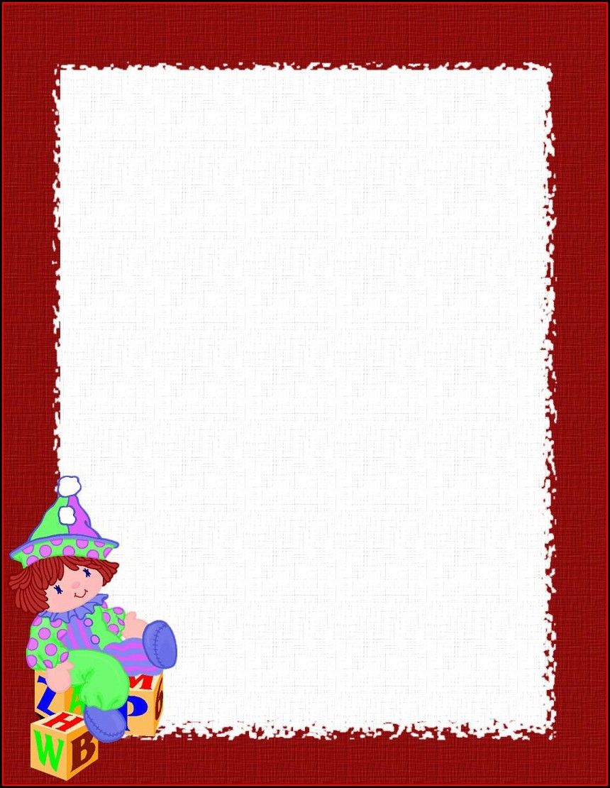 Word Free Christmas Stationery Templates