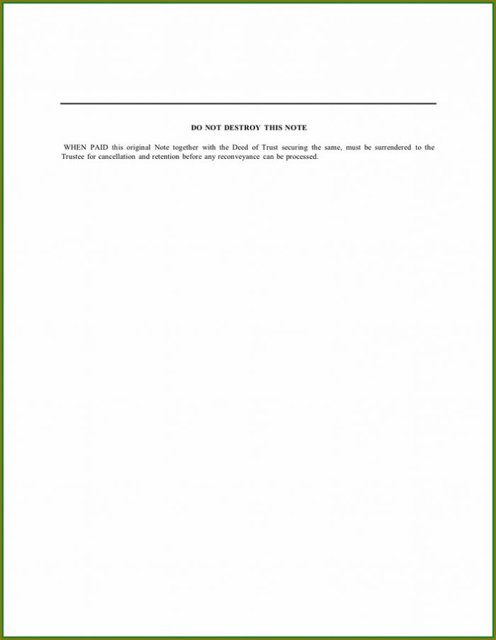 Word Secured Promissory Note Template